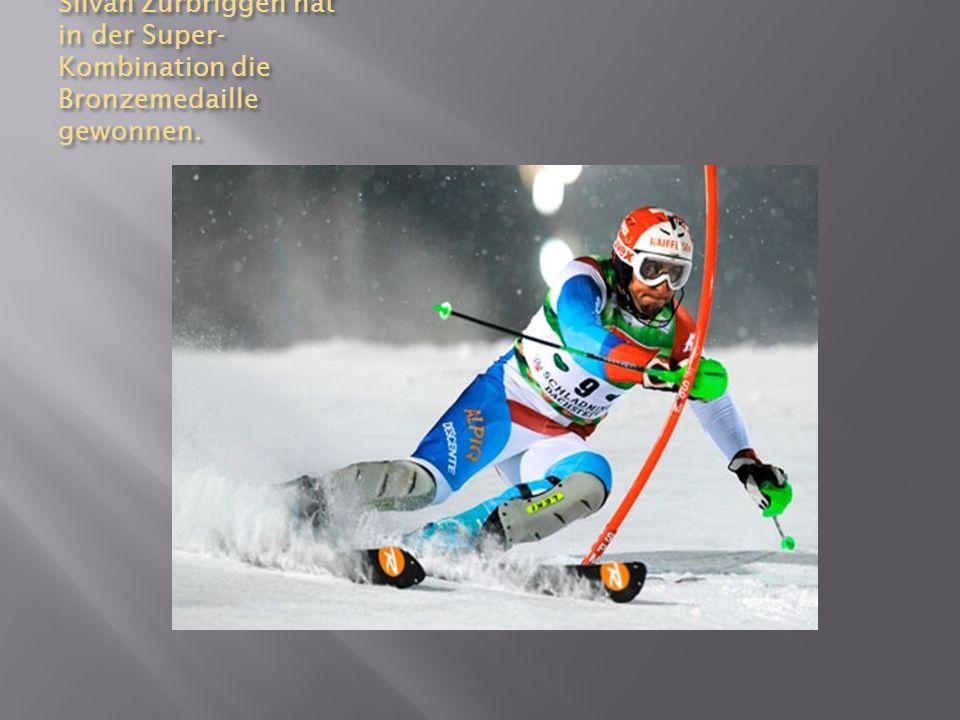 Silvan Zurbriggen hat in der Super- Kombination die Bronzemedaille gewonnen.