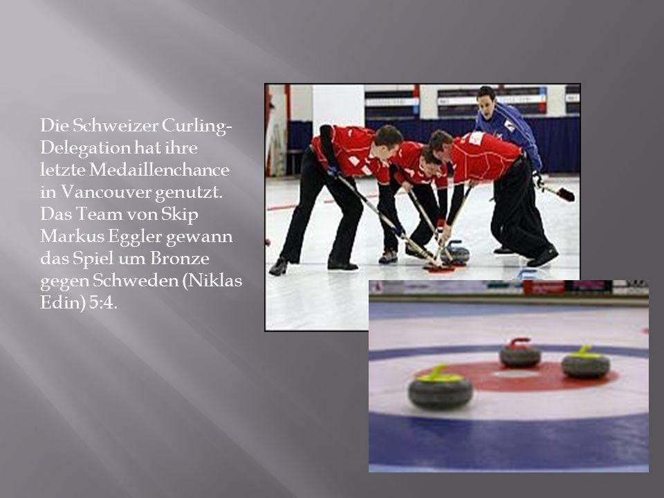 Die Schweizer Curling- Delegation hat ihre letzte Medaillenchance in Vancouver genutzt.