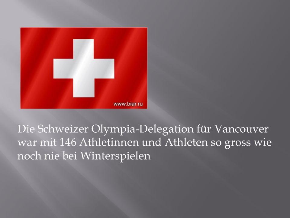 Die Schweizer Olympia-Delegation für Vancouver war mit 146 Athletinnen und Athleten so gross wie noch nie bei Winterspielen.
