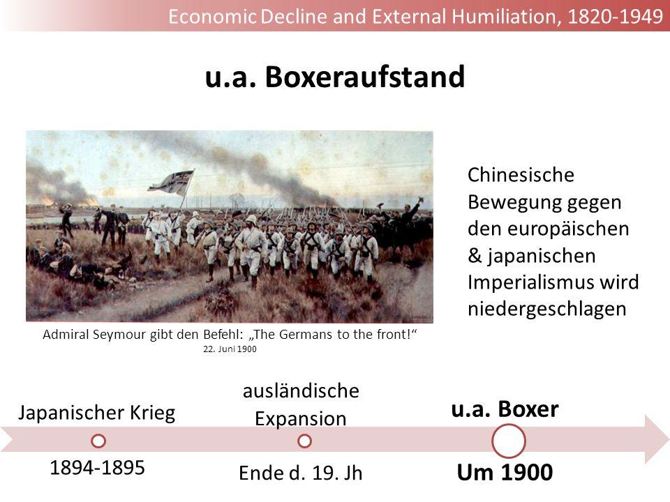 Japanischer Krieg 1894-1895 ausländische Expansion Ende d. 19. Jh u.a. Boxer Um 1900 u.a. Boxeraufstand Chinesische Bewegung gegen den europäischen &