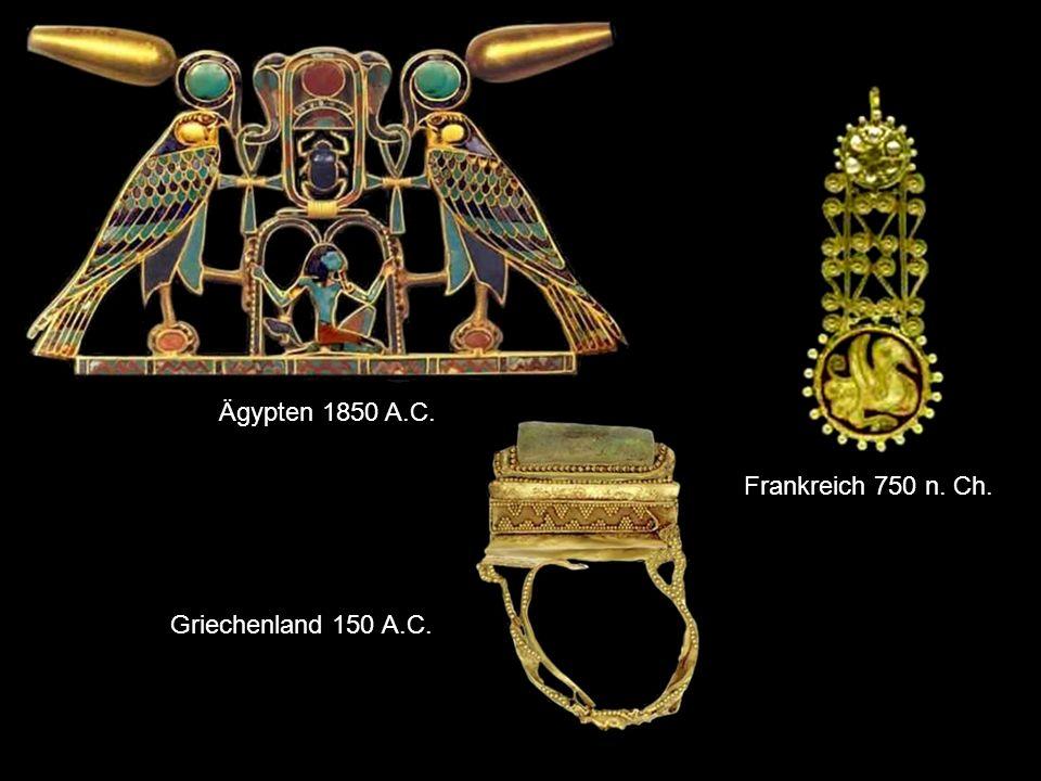 Ägypten 1850 A.C. Frankreich 750 n. Ch. Griechenland 150 A.C.