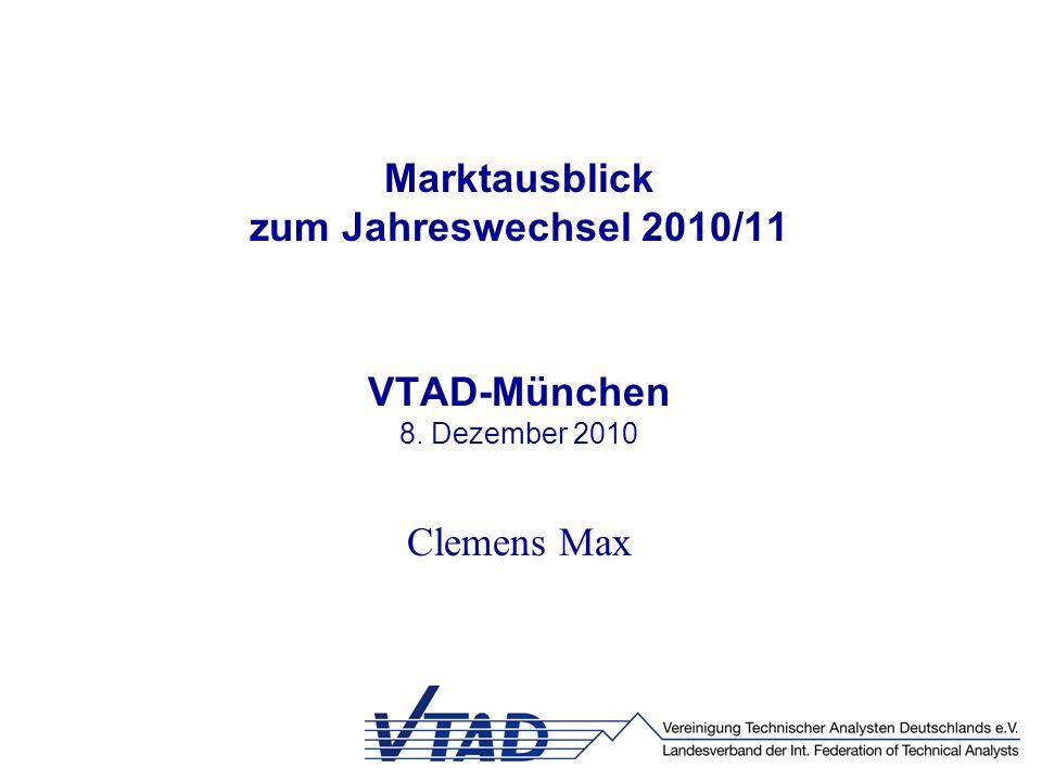 Marktausblick zum Jahreswechsel 2010/11 VTAD-München 8. Dezember 2010 Clemens Max