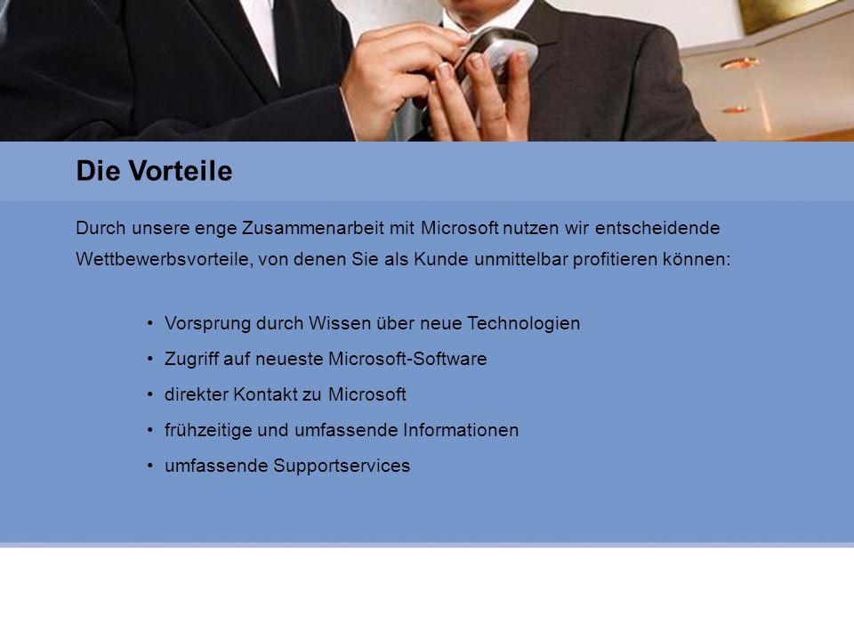 Microsoft Gold Certified Partner Durch unsere enge Zusammenarbeit mit Microsoft nutzen wir entscheidende Wettbewerbsvorteile, von denen Sie als Kunde