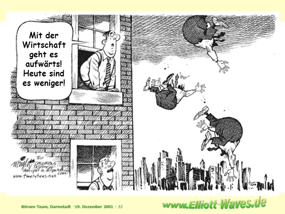 Börsen-Team, Darmstadt ·19. Dezember 2001 - 53 Mit der Wirtschaft geht es aufwärts! Heute sind es weniger!