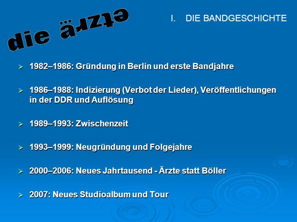 Manuel Müller, Florian Lohr Klasse 9 Hauptschule Diepoldshofen Die Bandgeschichte 1982–1986: Gründung in Berlin und erste Bandjahre 1982–1986: Gründun