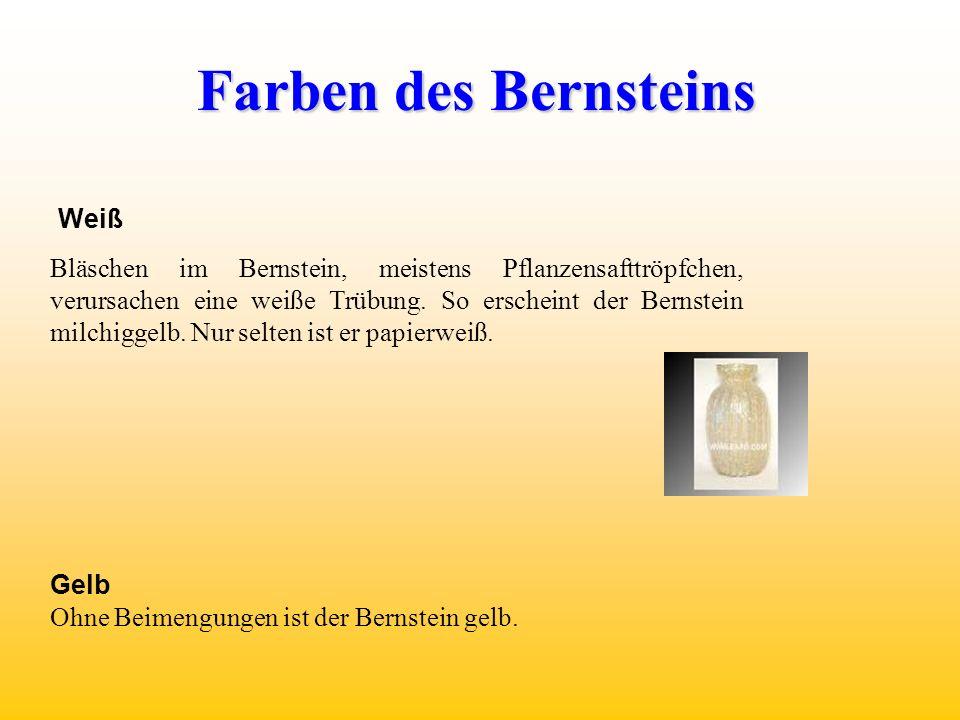 Weiß Bläschen im Bernstein, meistens Pflanzensafttröpfchen, verursachen eine weiße Trübung.