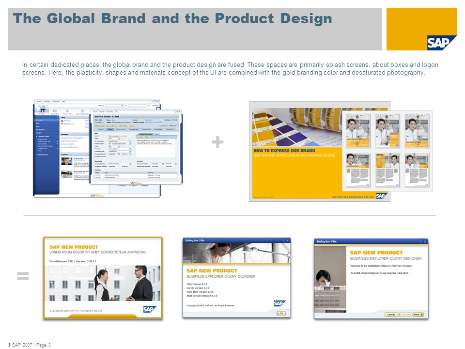 © SAP 2007 / Page 3 The Global Brand and the Product Design In certain dedicated places, the global brand and the product design are fused. These spac
