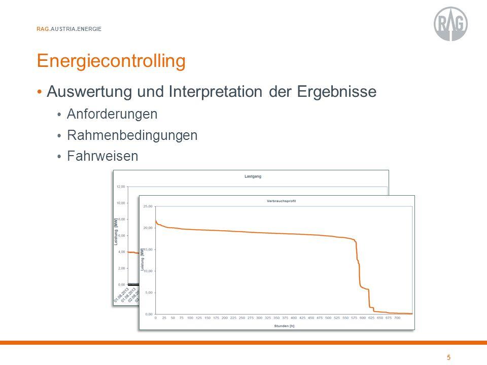 RAG.AUSTRIA.ENERGIE Energiecontrolling Ableiten von Maßnahmen Erarbeiten und Umsetzen von Optimierungsvorschlägen Technische Optimierungen an Anlagen Erstellen von Aktionsplänen (Energiesparprogramm) Kurz- und langfristige Projekte Berücksichtigung Geschäftsplanung 6