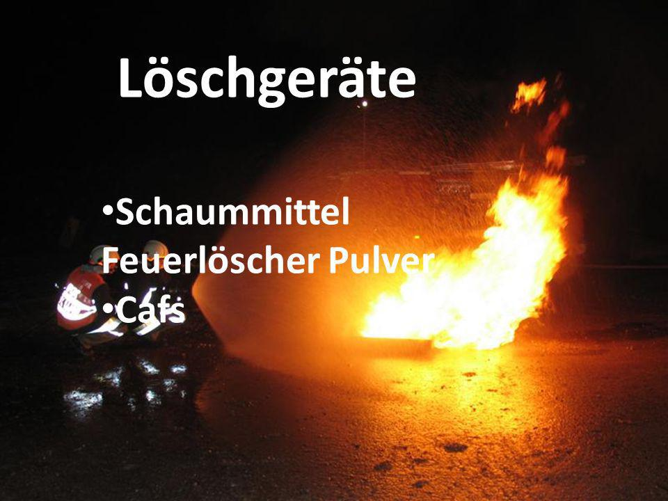 Löschgeräte Schaummittel Feuerlöscher Pulver Cafs