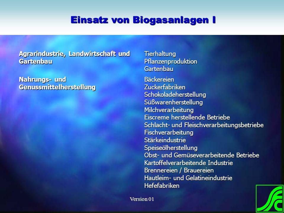 Version 01 EnviConsult GmbH Agrarindustrie, Landwirtschaft und Gartenbau TierhaltungPflanzenproduktionGartenbau Nahrungs- und Genussmittelherstellung