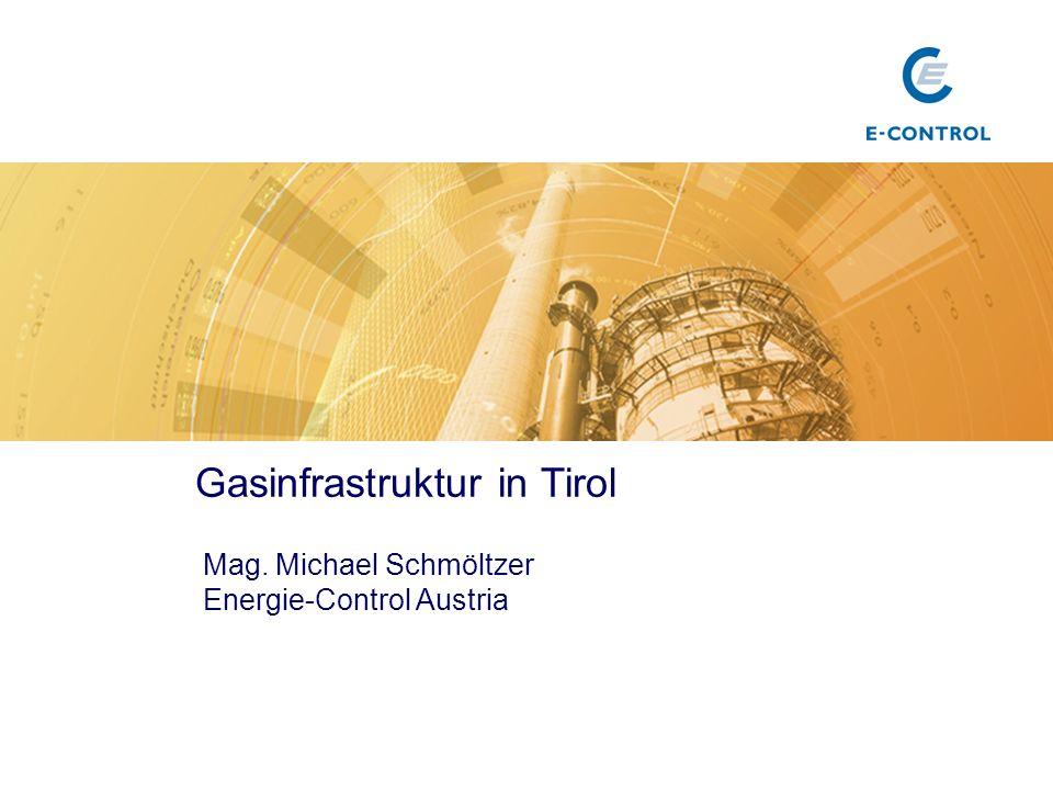 Gasinfrastruktur in Tirol Mag. Michael Schmöltzer Energie-Control Austria Titel