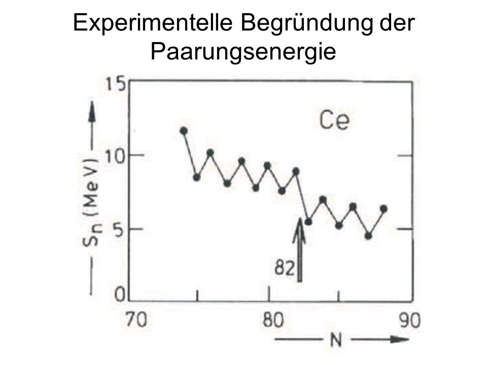 12 Experimentelle Begründung der Paarungsenergie