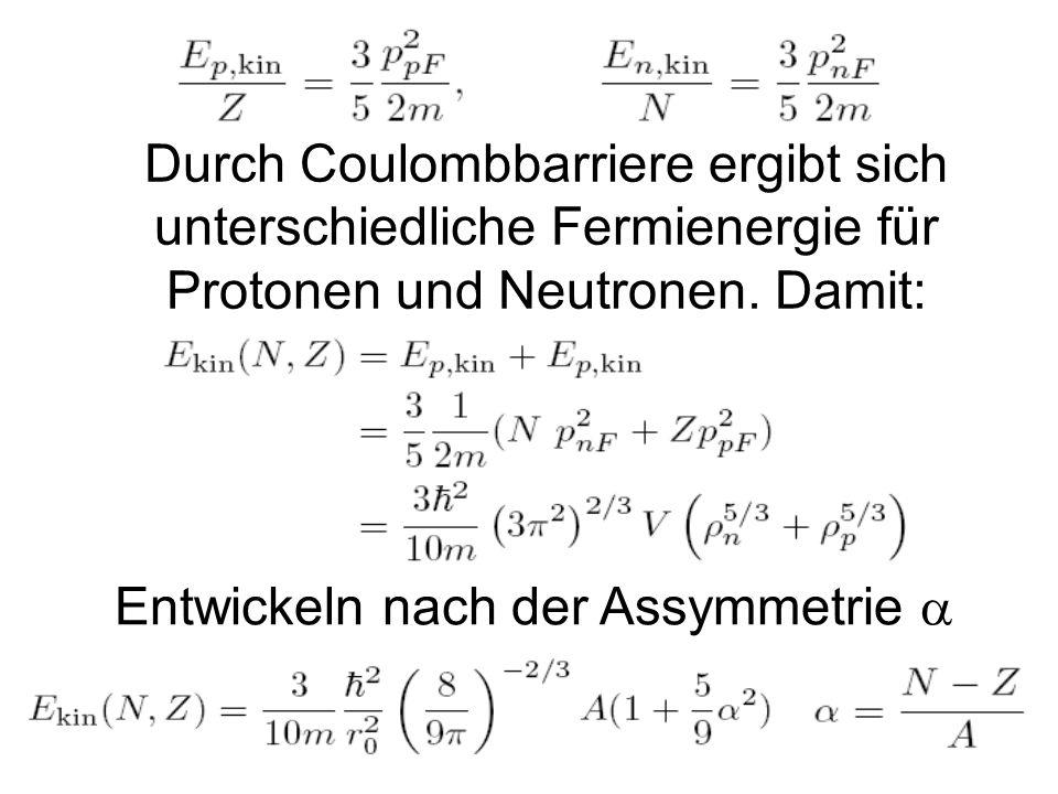 10 2.2. Tröpfchenmodell / Bethe-Weizsäcker