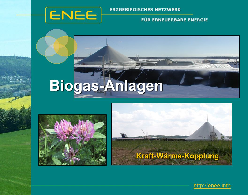 http://enee.infoBiogas-Anlagen Kraft-Wärme-Kopplung