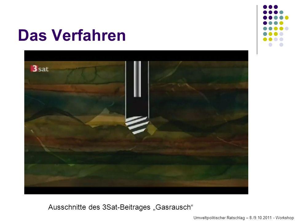 Das Verfahren Ausschnitte des 3Sat-Beitrages Gasrausch Umweltpolitischer Ratschlag – 8./9.10.2011 - Workshop