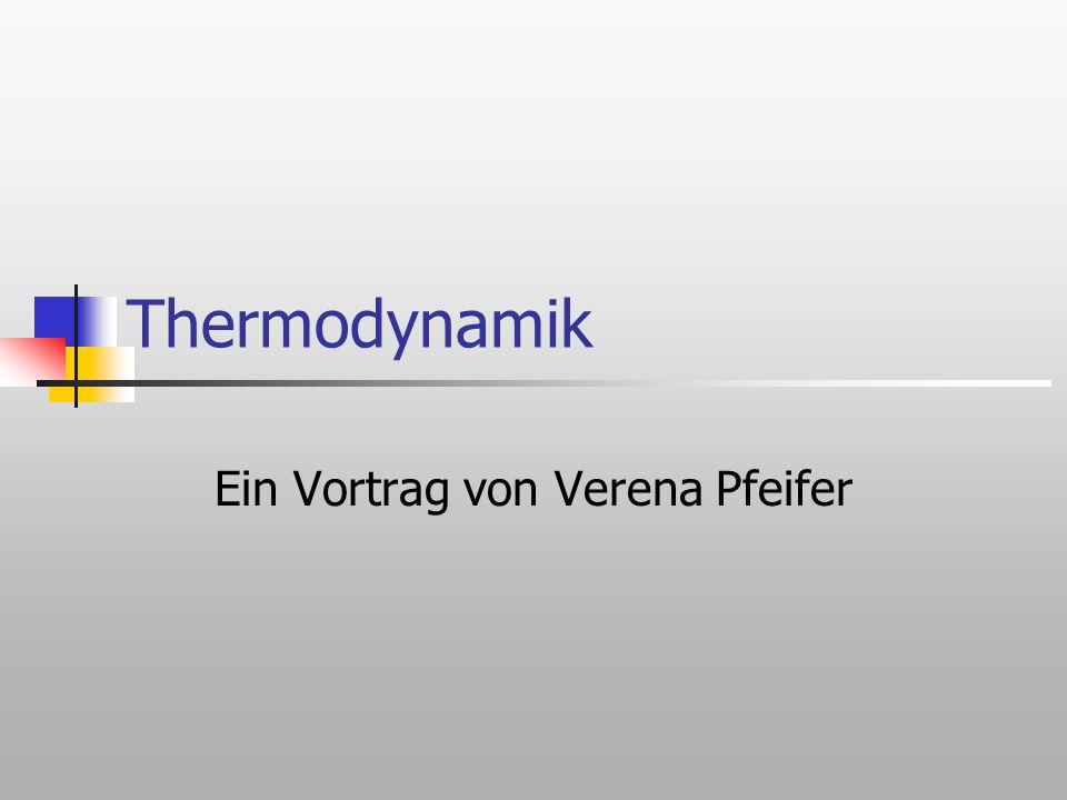 Inhaltsverzeichnis Was versteht man unter Thermodynamik.