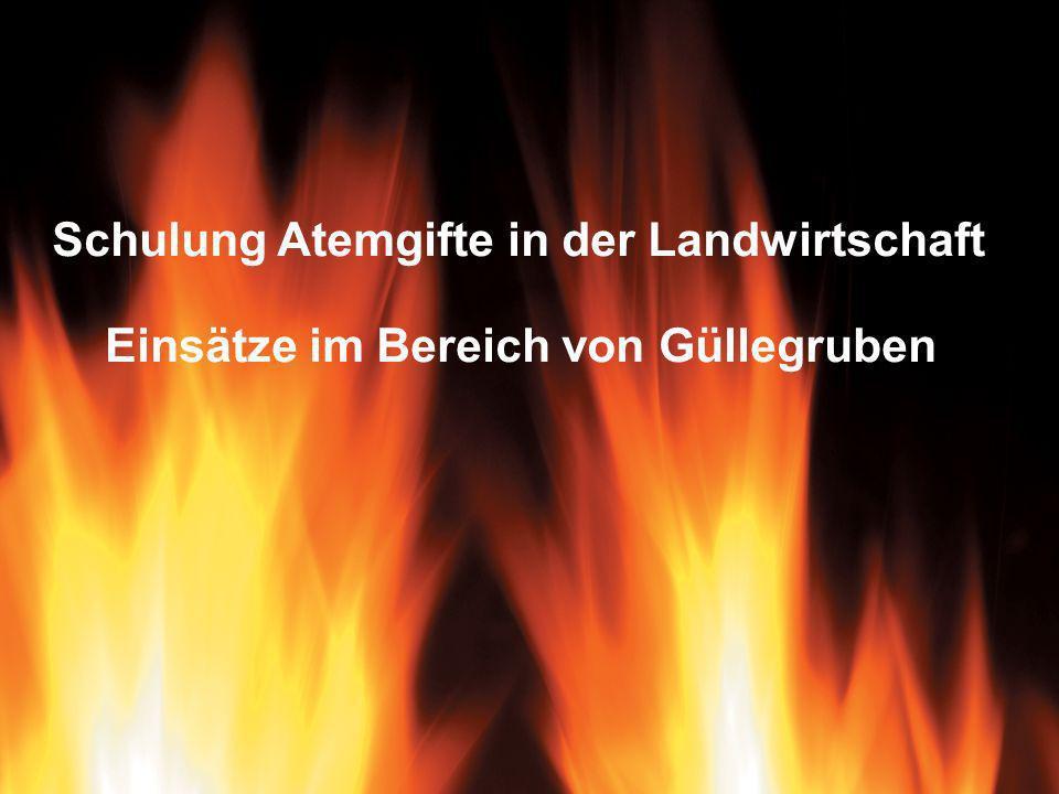 Franz Thaler, LMFF Rudmanns1 Schulung Atemgifte in der Landwirtschaft Einsätze im Bereich von Güllegruben