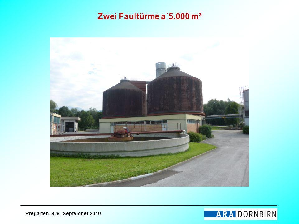 Pregarten, 8./9. September 2010 Zwei Faultürme a´5.000 m³
