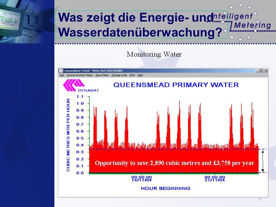 Was zeigt die Energie- und Wasserdatenüberwachung?