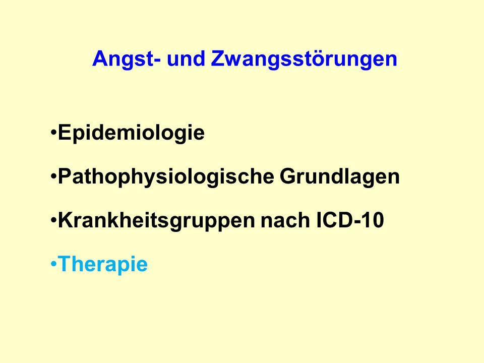 Angst- und Zwangsstörungen Epidemiologie Pathophysiologische Grundlagen Krankheitsgruppen nach ICD-10 Therapie