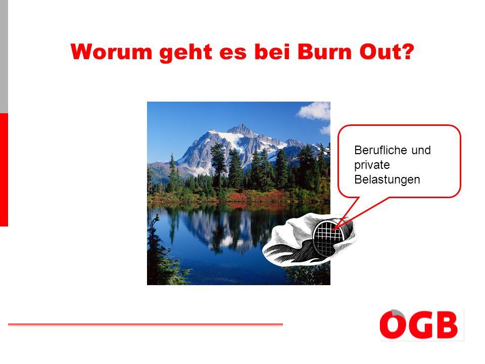 Was ist Burn Out.ausbrennen – Verlöschen einer Lampe, wenn das Öl verbraucht ist.