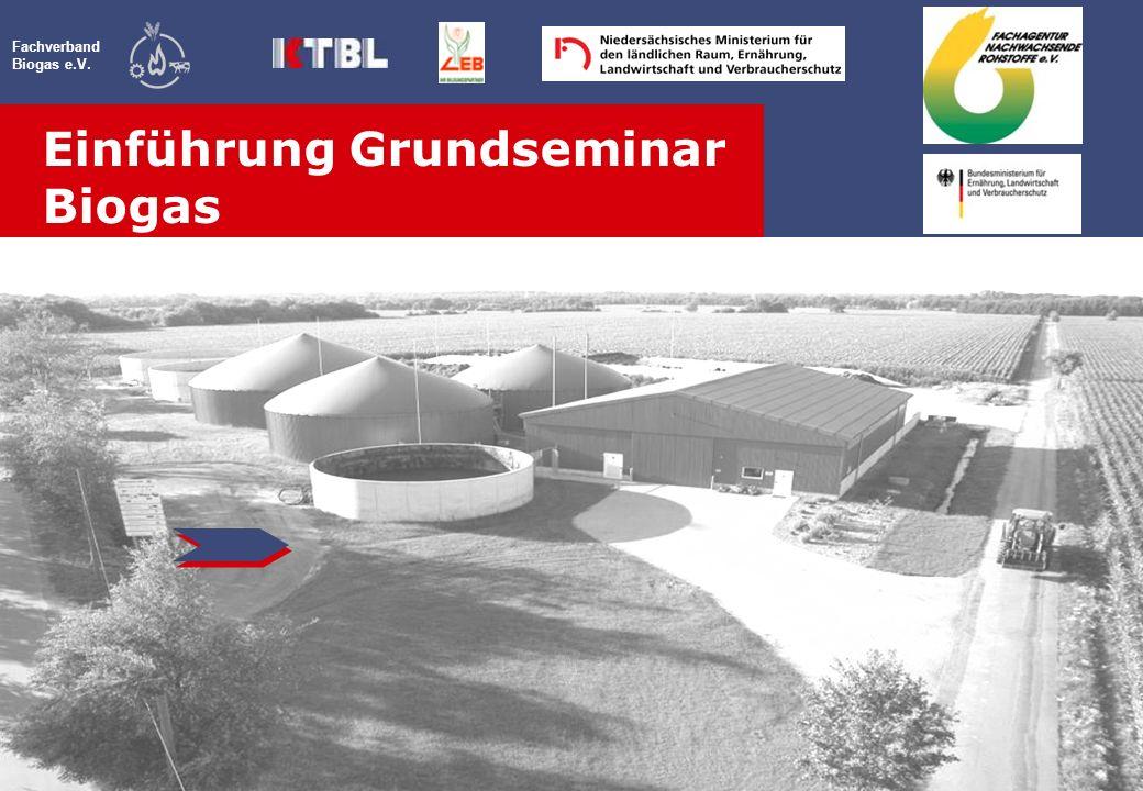 Fachverband Biogas e.V. Einführung Grundseminar Biogas Veranstaltung
