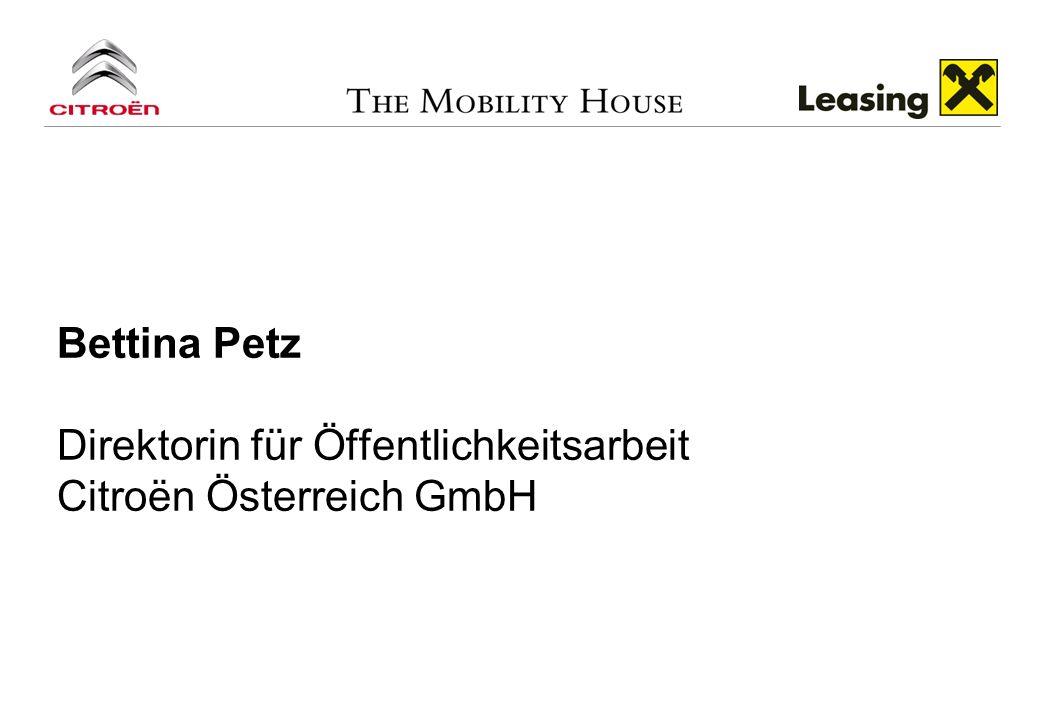 Bettina Petz Direktorin für Öffentlichkeitsarbeit Citroёn Österreich GmbH