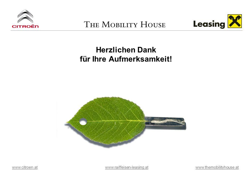 Herzlichen Dank für Ihre Aufmerksamkeit! www.citroen.atwww.raiffeisen-leasing.atwww.citroen.atwww.raiffeisen-leasing.at www.themobilityhouse.atwww.the