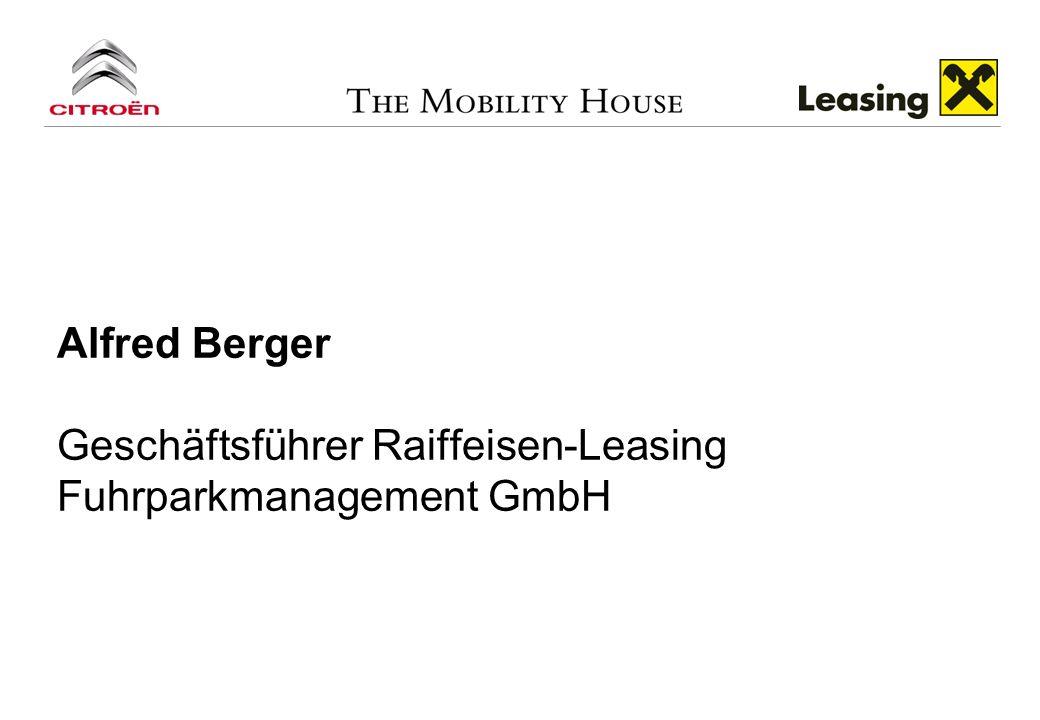 Alfred Berger Geschäftsführer Raiffeisen-Leasing Fuhrparkmanagement GmbH
