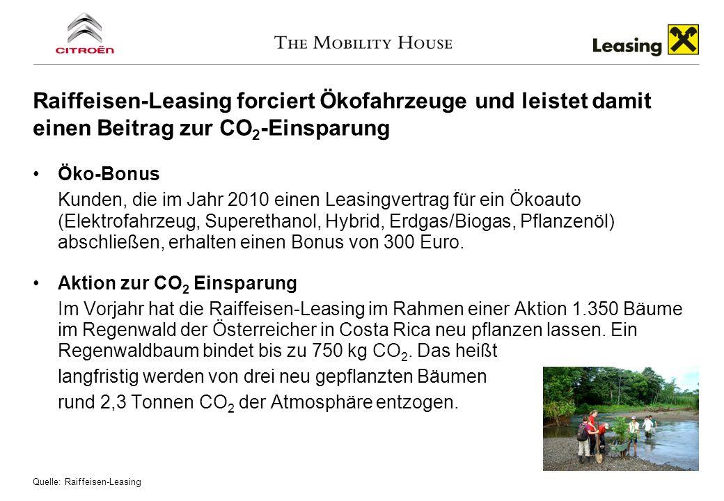 Öko-Bonus Kunden, die im Jahr 2010 einen Leasingvertrag für ein Ökoauto (Elektrofahrzeug, Superethanol, Hybrid, Erdgas/Biogas, Pflanzenöl) abschließen