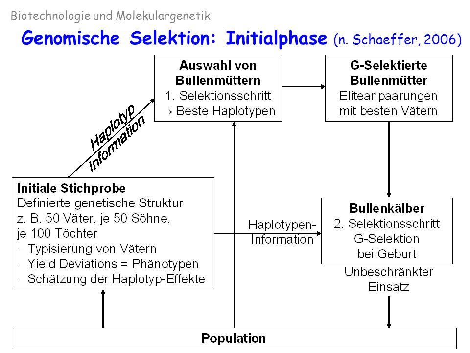 Biotechnologie und Molekulargenetik Genomische Selektion: Weiterführung