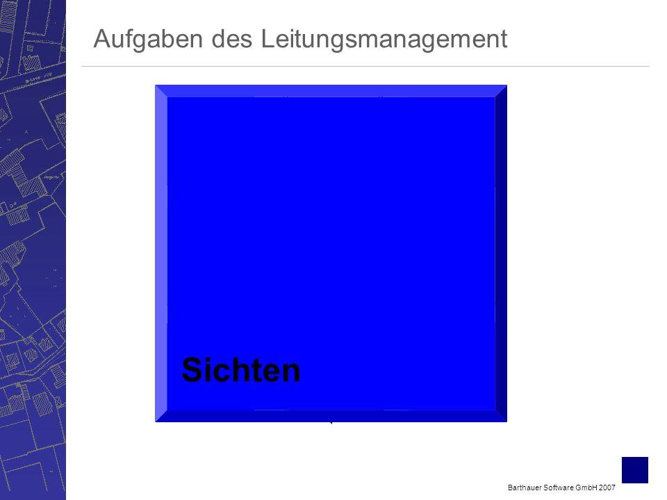 Barthauer Software GmbH 2007 Bewerten Verwalten ErfassenSichten Berechnen Betreiben Planen Aufgaben des Leitungsmanagement Sichten