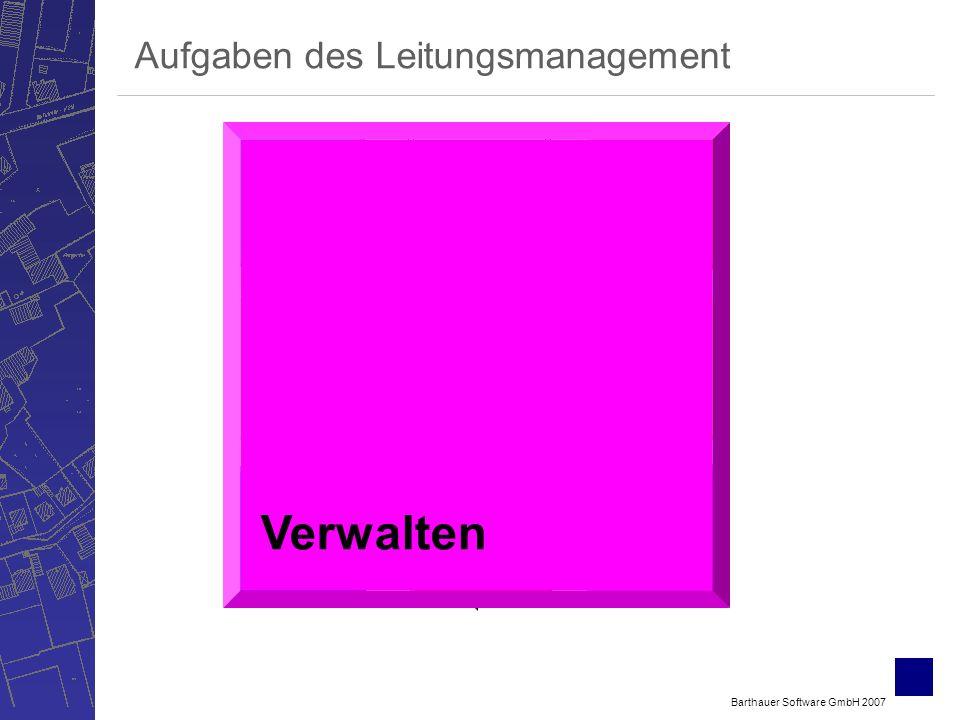 Barthauer Software GmbH 2007 Bewerten Verwalten ErfassenSichten Berechnen Betreiben Planen Aufgaben des Leitungsmanagement Verwalten