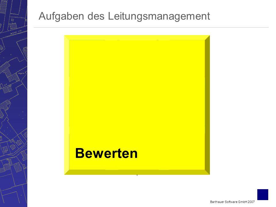 Barthauer Software GmbH 2007 Bewerten Verwalten ErfassenSichten Berechnen Betreiben Planen Aufgaben des Leitungsmanagement Bewerten