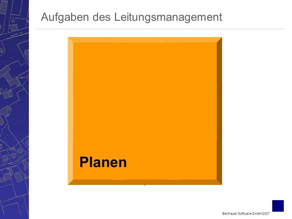 Barthauer Software GmbH 2007 Bewerten Verwalten ErfassenSichten Berechnen Betreiben Planen Aufgaben des Leitungsmanagement Planen