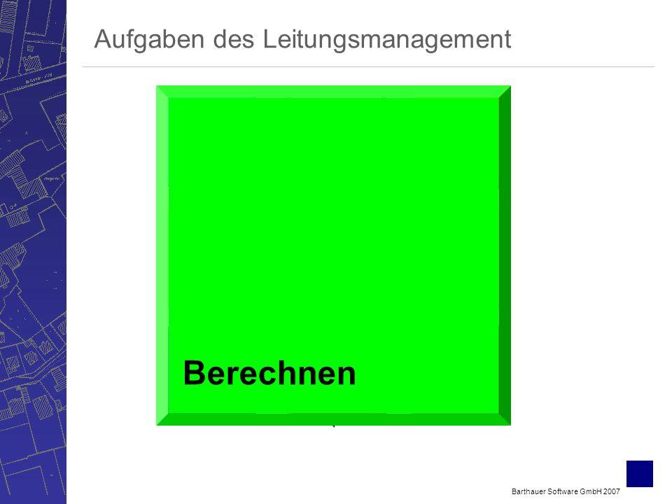 Barthauer Software GmbH 2007 Bewerten Verwalten ErfassenSichten Berechnen Betreiben Planen Aufgaben des Leitungsmanagement Berechnen