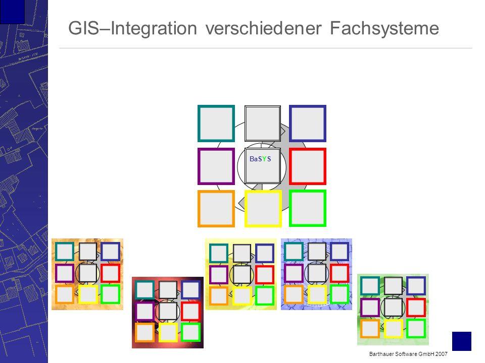 Barthauer Software GmbH 2007 GIS–Integration verschiedener Fachsysteme BaSYS
