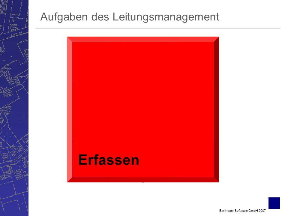 Barthauer Software GmbH 2007 Bewerten Verwalten ErfassenSichten Berechnen Betreiben Planen Aufgaben des Leitungsmanagement Erfassen