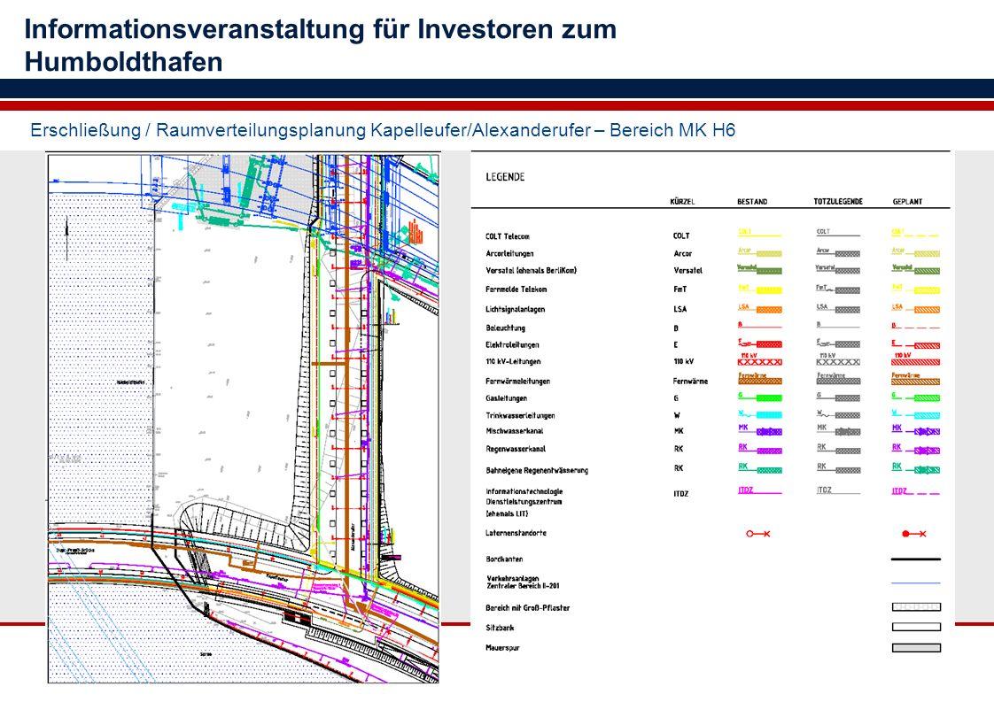 Erschließung / Raumverteilungsplanung Kapelleufer/Alexanderufer – Bereich MK H6 Informationsveranstaltung für Investoren zum Humboldthafen