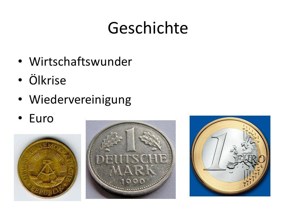 Geschichte Wirtschaftswunder Ölkrise Wiedervereinigung Euro