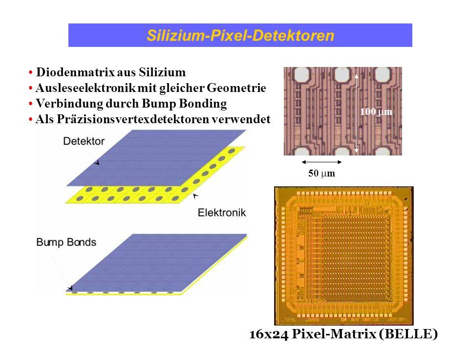 Silizium-Pixel-Detektoren Diodenmatrix aus Silizium Ausleseelektronik mit gleicher Geometrie Verbindung durch Bump Bonding Als Präzisionsvertexdetekto