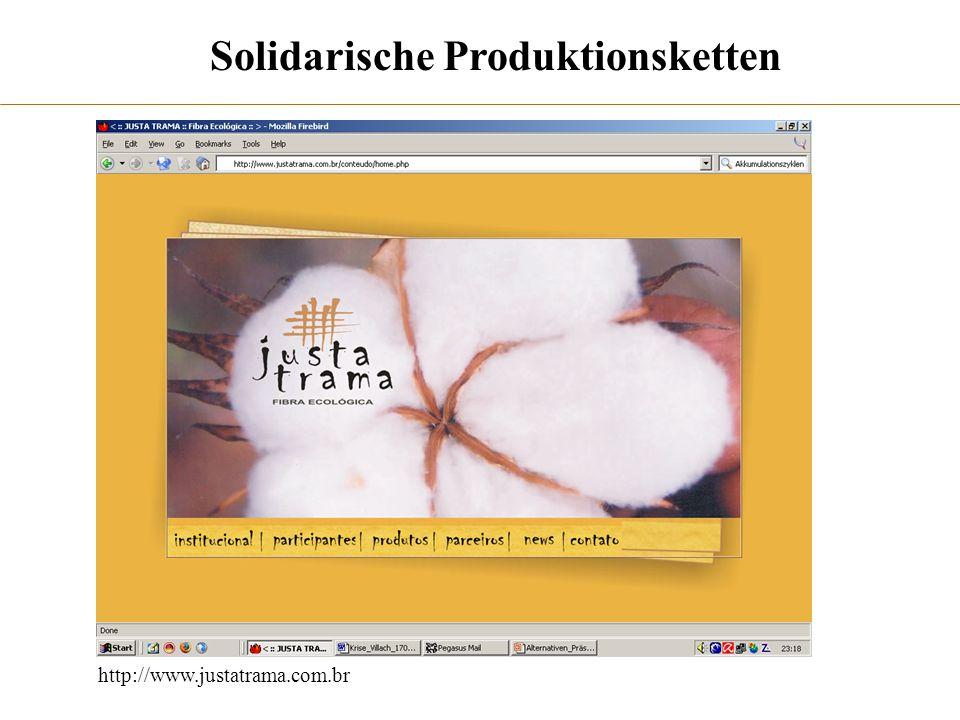 http://www.justatrama.com.br Solidarische Produktionsketten