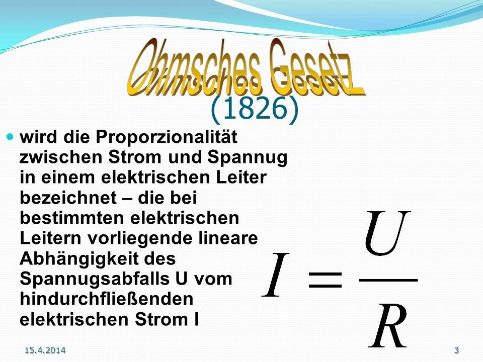 *6.3.1789 - 6.7.1854 deutscher Physiker Sein Name ging in die Terminolgie der Elektrizitätslehre ein. Das Werk Die galvanische Kette hatte einen Einfl
