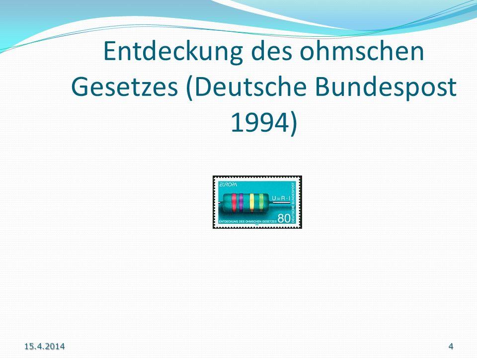 Entdeckung des ohmschen Gesetzes (Deutsche Bundespost 1994) 15.4.20144