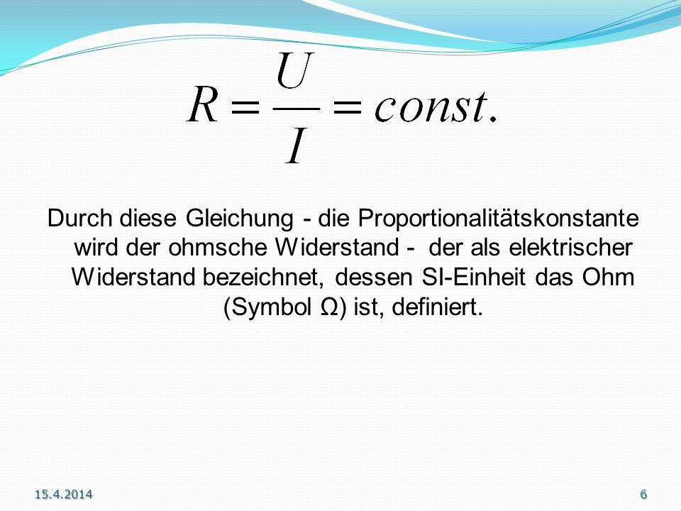 Ohm ist die abgeleitete SI-Einheit des elektrischen Widerstandes mit dem Einheitenzeichen (großes griechisches Omega). Das nach Ohm benannte ohmsche G