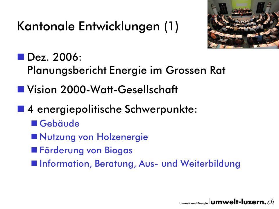 Kantonale Entwicklungen (1) Dez.