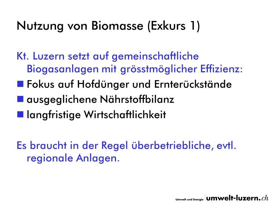 Nutzung von Biomasse (Exkurs 1) Kt.