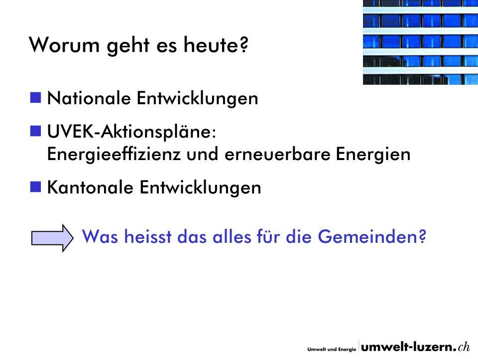 Förderprogramm Gebäudeenergie (2) Während 10 Jahren jährlich 1.5 Mio.