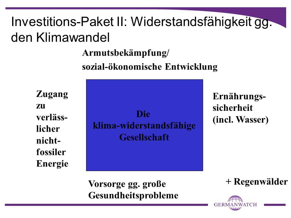Investitions-Paket II: Widerstandsfähigkeit gg.
