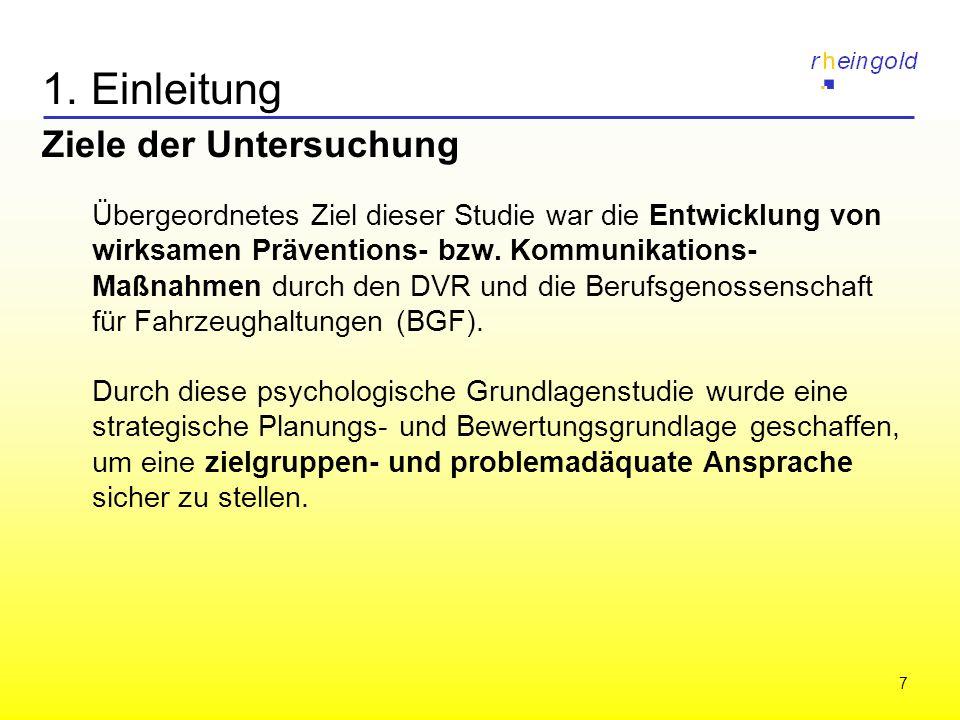 7 1. Einleitung Ziele der Untersuchung Übergeordnetes Ziel dieser Studie war die Entwicklung von wirksamen Präventions- bzw. Kommunikations- Maßnahmen